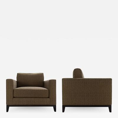 Christian Liaigre Pair of Lounge Chairs by Christian Liaigre