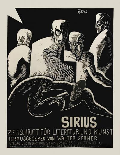 Christian Schad Sirius a Swiss Stone Lithograph Expressionist Poster by Christian Schad 1915