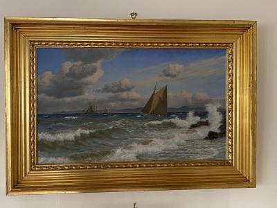 Christian Vigilius Blache Seascape by Christian Vigilius Blache