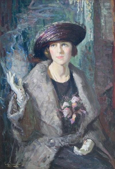 Christian Von Schneidau An Appeal Portrait of Miss S 1921