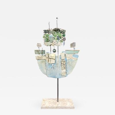 Christina Wiese Ship Sculpture Blue