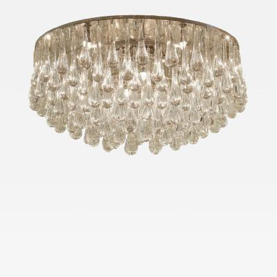 Christophe Palme Massive Christoph Palme Crystal Teardrop Flush Mount Chandelier