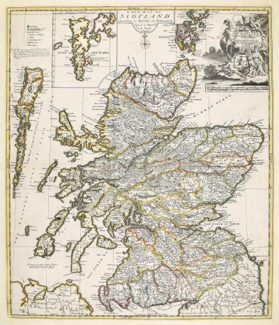 Christopher Browne A scarce map of Scotland