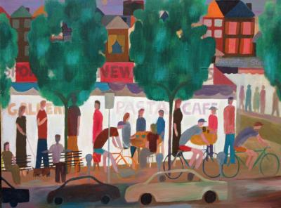 Christopher Callahan Street Scene with Bicycles