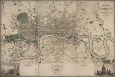 Christopher Greenwood Map of London from an actual survey made in the years 1824 1825 1826
