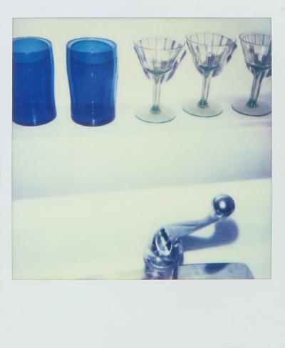 Christopher Makos BLUE GLASSES AND FAUCET BY CHRISTOPHER MAKOS