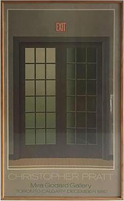 Christopher Pratt Modern Poster of French Doors by Canadian Artist Christopher Pratt
