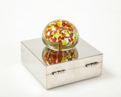 Chrome Murano Keepsake Box