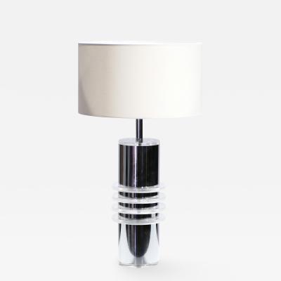 Chrome and plexiglass table lamp 1970 s