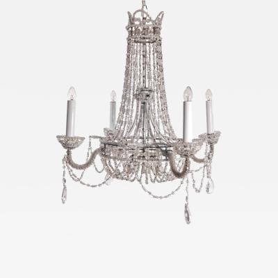 Chrystal and Beaded Chandelier