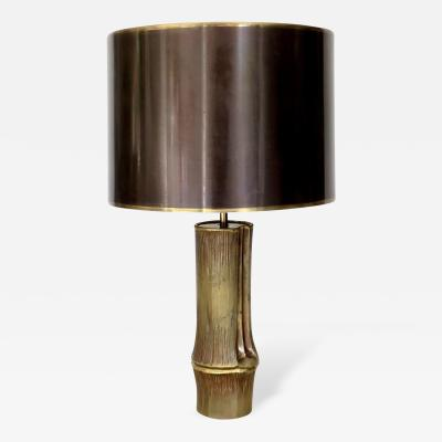 Chrystiane Charles French Bronze Table Lamp model Bambou by Maison Charles