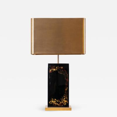 Chrystiane Charles Rare lacquer table lamp by Chrystiane Charles