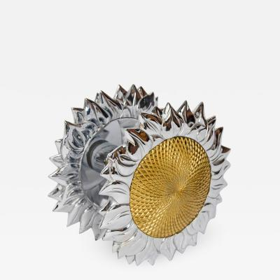 Chrystiane Charles large double sided sunflower shaped door handle by Chrystiane Charles