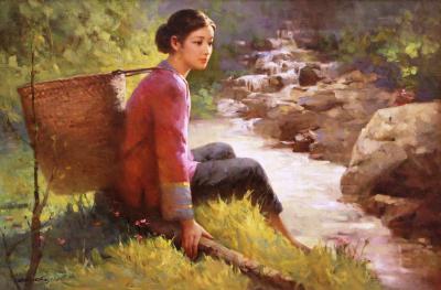 Chujian Oh The Creek by Chujian Oh