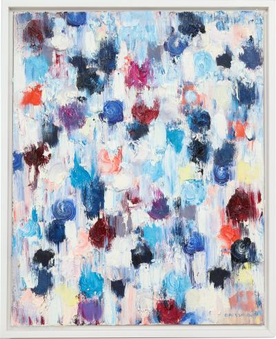 Cindy Shaoul Dripping Dots Rotterdam 2017 Oil on Canvas Framed Cindy Shaoul