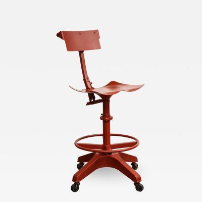 Cinnabar Red Industrial Chair