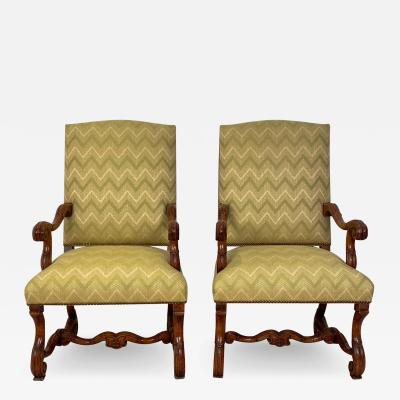 Circa 1650 Louis XIV Armchairs France a Pair