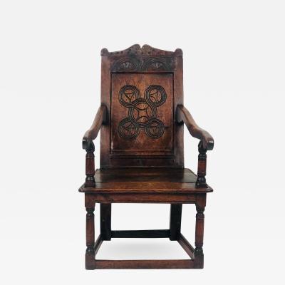 Circa 1680 Charles II Oak Armchair