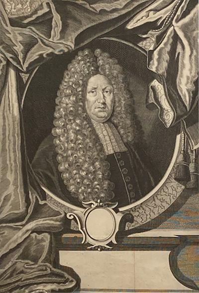 Circa 1700 Engraving of Minister England