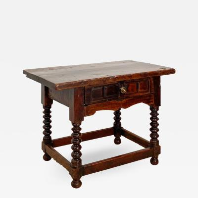 Circa 1700 Walnut Work Table Spain