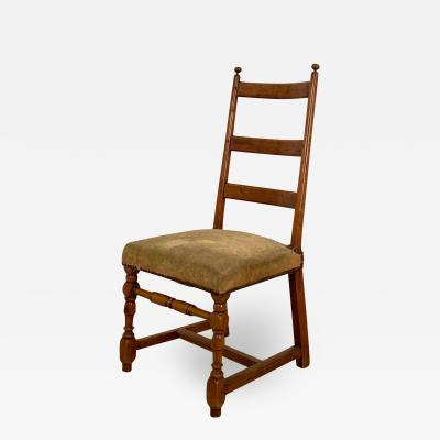 Circa 1750 Ladder Back Side Chair Continental