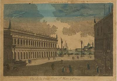 Circa 1770 Vue Optique of Venice France