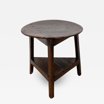 Circa 1780 English Oak Cricket Table