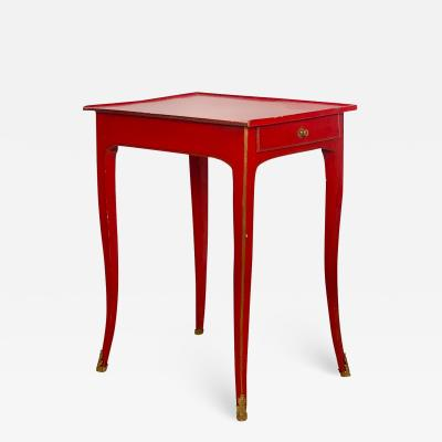 Circa 1780 Louis XV Red Lacquered Side Table France