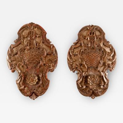 Circa 1780 Silver Gilt Plaques Italy A Pair