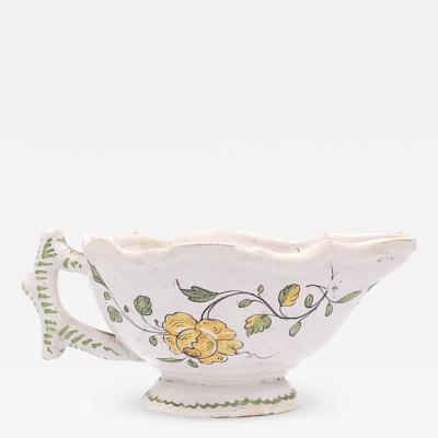 Circa 1790 Faience French Sauce Boat