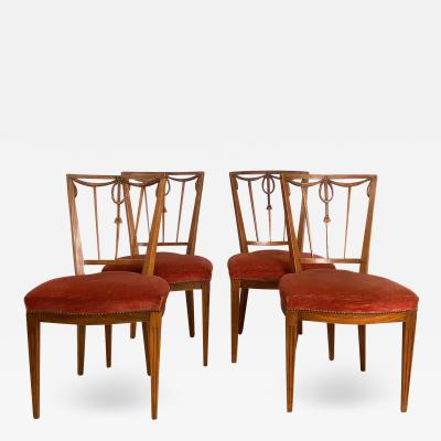 Circa 1790 Set of Four Belgian Louis XVI Chairs