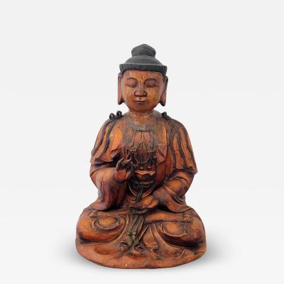 Circa 1800 Dry Lacquered Buddha Southern China