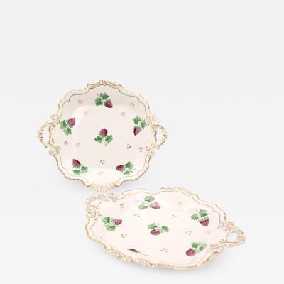 Circa 1830 English Porcelain Gilt Dessert Serving Pedestals A Pair