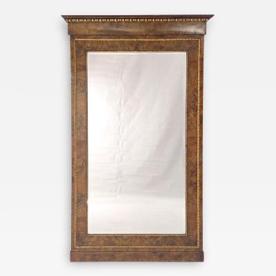 Circa 1830 Italian Burl Walnut and Gilt Pier Mirror Large