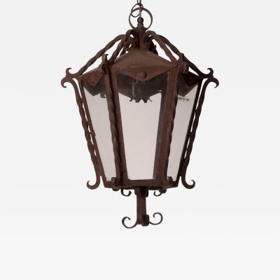 Circa 1850 Italian Wrought Iron Lantern