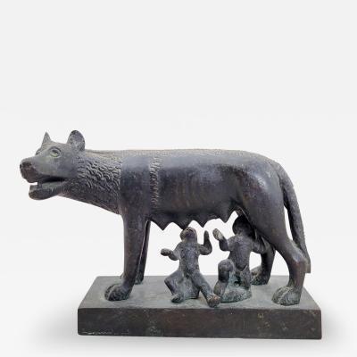 Circa 1860 Grand Tour Bronze of Romulus and Remus