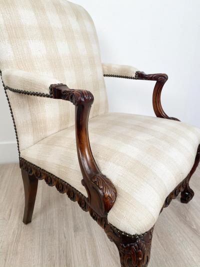 Circa 1870 Chippendale Style Armchair Ireland