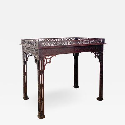 Circa 1880 Chinese Chippendale Style Silver table England