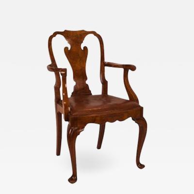 Circa 1880 George II Style Walnut Armchair