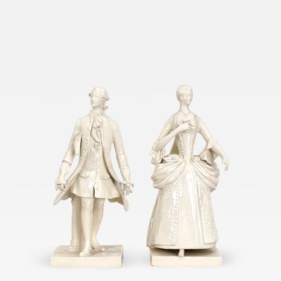 Circa 1880 Porcelain Figures France A Pair