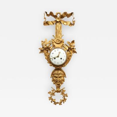 Circa 1890 French Gilt Bronze Wall Clock