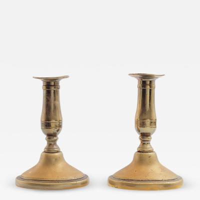 Circa 18th century Dutch Candlesticks A Pair