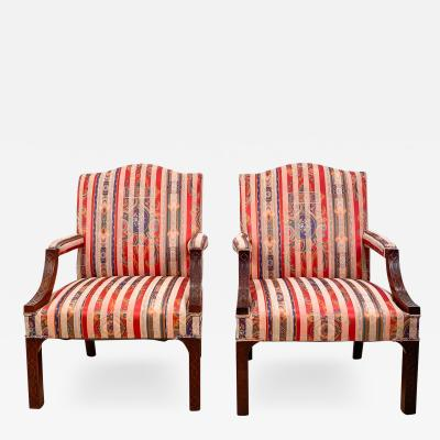 Circa 1910 Chinese Chippendale Style Armchairs England A Pair