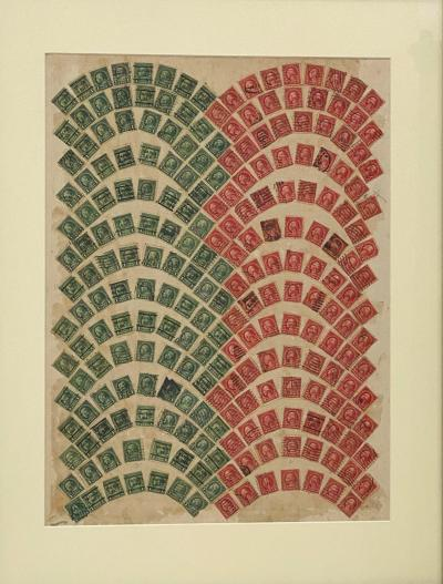 Circa 1910 Stamp Art Collage American
