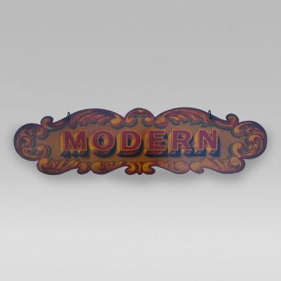 Circa 1920 Double Side Carnival Sign Modern No Standing