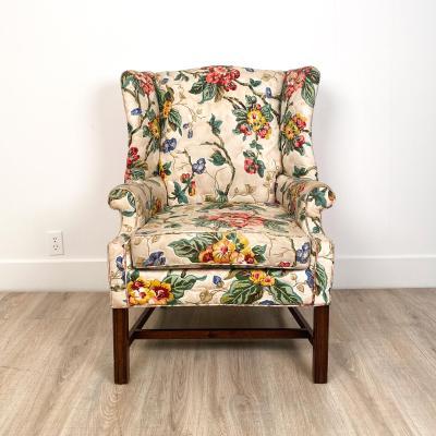 Circa 1920 Vintage Wing Chair England
