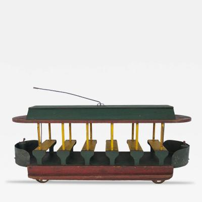 Circa 1920 Wood Trolley