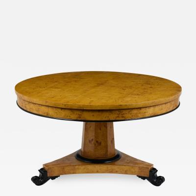 Circa 1930s Empire Burled Centre Table