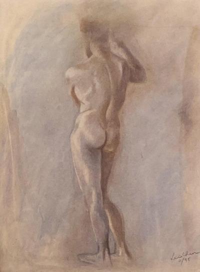 Circa 1950 Figural Sketch American