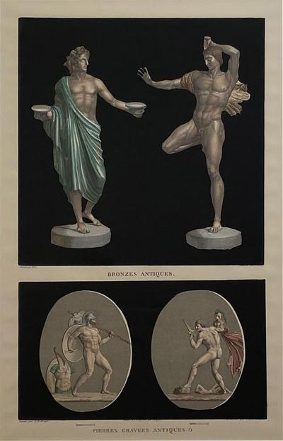 Circa 19th Century Antiquities Engraving Italy